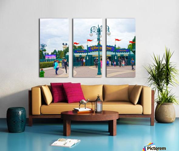 Paris Disneyland 1 of 4 Split Canvas print