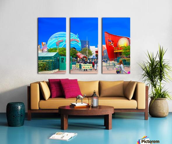 Paris Disneyland 2 of 4 Split Canvas print