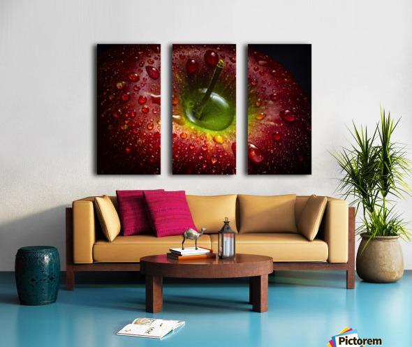 Red Apple Split Canvas print