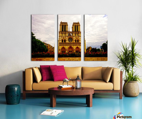 Jeanne d Arc and Saint Croix Cathedral at Orleans   France 1 of 7 Split Canvas print