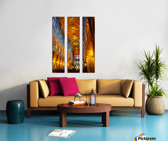 Jeanne d Arc and Saint Croix Cathedral at Orleans   France 2 of 7 Split Canvas print