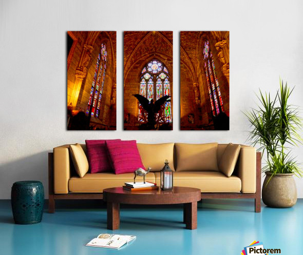 Jeanne d Arc and Saint Croix Cathedral at Orleans   France 5 of 7 Split Canvas print
