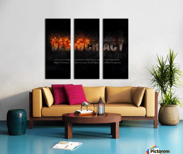 Flames of Democracy  Split Canvas print