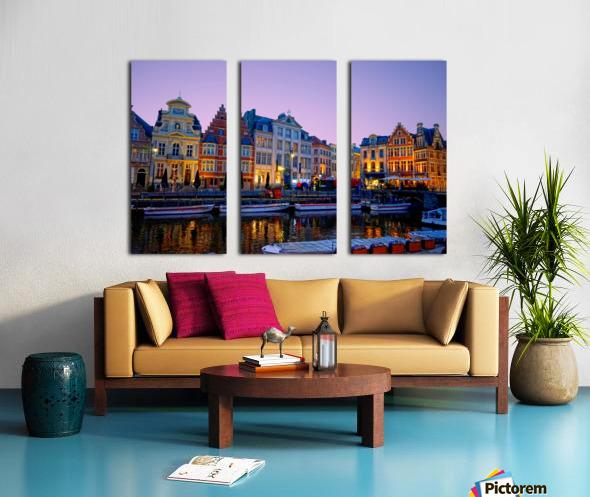 I Dreamed of Belgium Split Canvas print