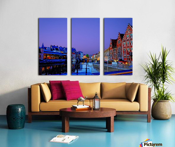 Wondrous Belgium Split Canvas print