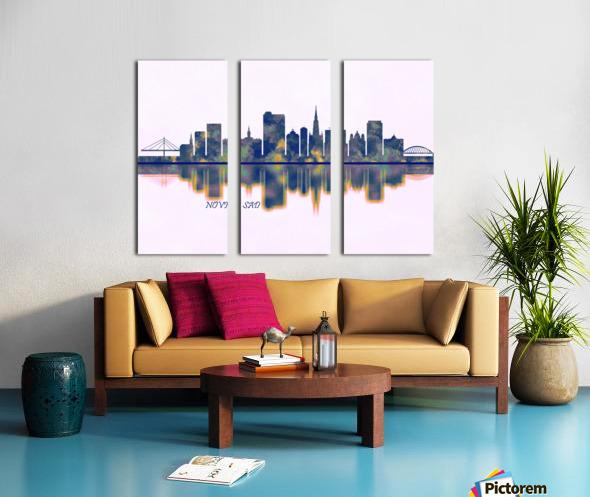 Novi Sad Skyline Split Canvas print