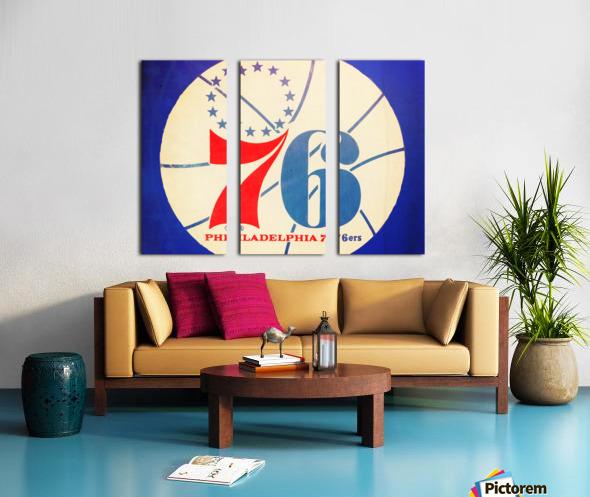 Vintage Philadelphia 76ers Art Split Canvas print