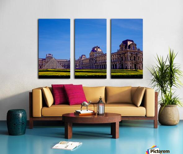 The Louvre Paris 1st Arrondissement Paris Split Canvas print
