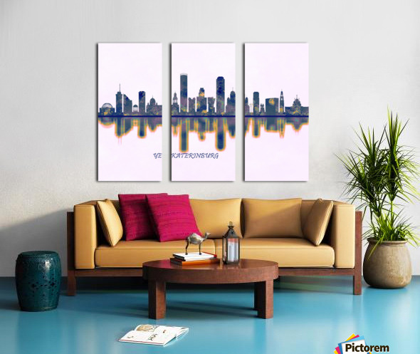 Yekaterinburg Skyline Split Canvas print