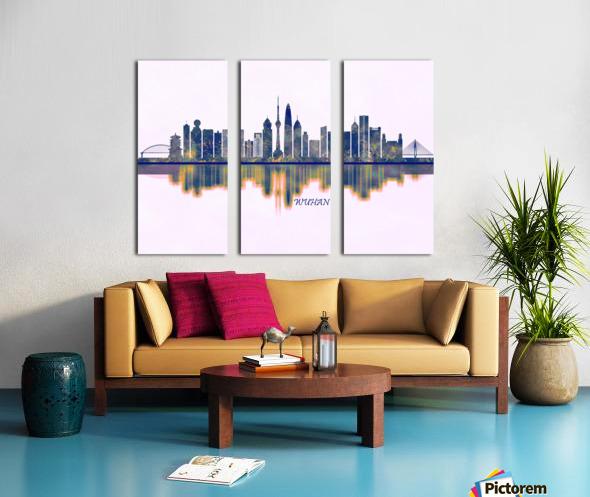 Wuhan Skyline Split Canvas print