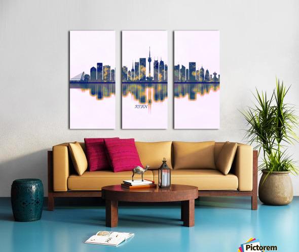 Xian Skyline Split Canvas print