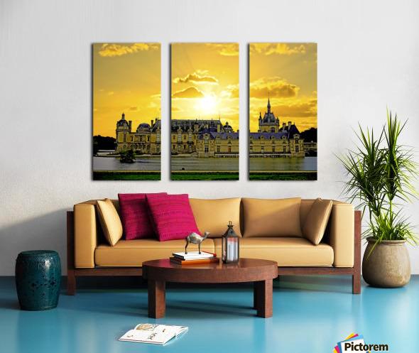 Chateau de Fontainebleau Split Canvas print