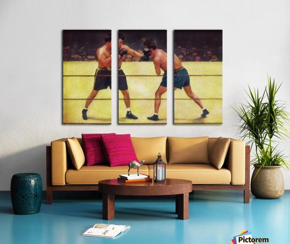 Vintage Boxing Art Split Canvas print