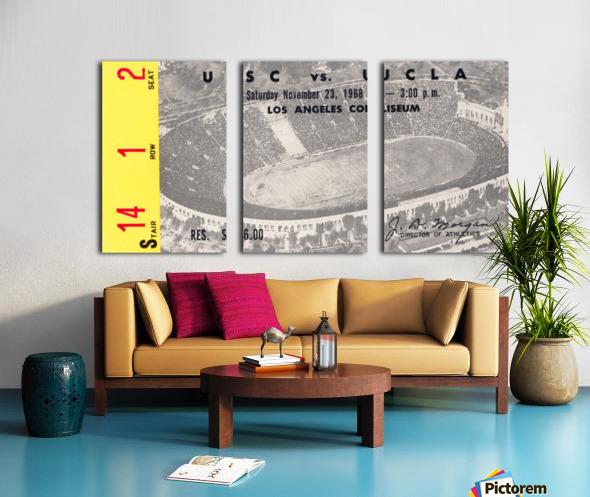 1968 UCLA vs. USC Split Canvas print
