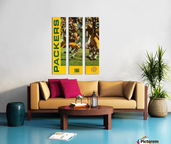 1966 Green Bay Packers Football Art Split Canvas print