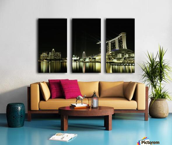 Night in the City by hardibudi   Split Canvas print