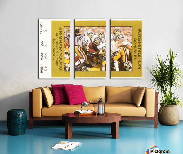 1986 Washington vs. BYU Split Canvas print