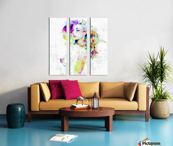 Hey Baby Split Canvas print