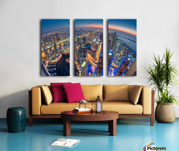 Dubai Colors of Night Split Canvas print