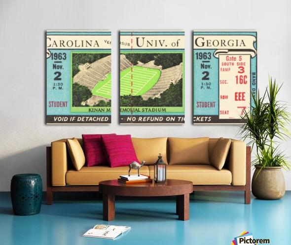 1963 North Carolina vs. Georgia Split Canvas print
