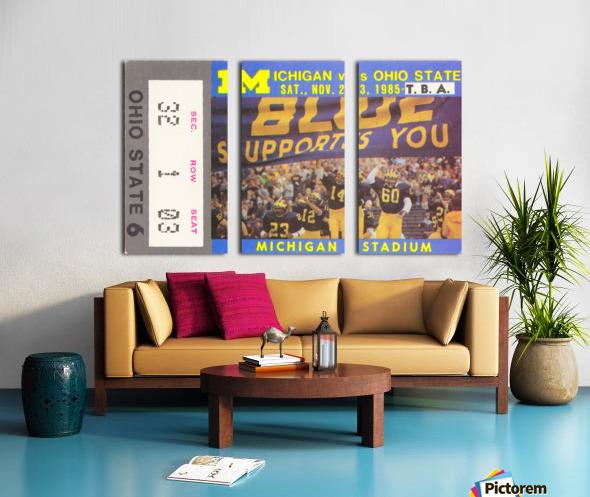 1985 Michigan vs. Ohio State Split Canvas print