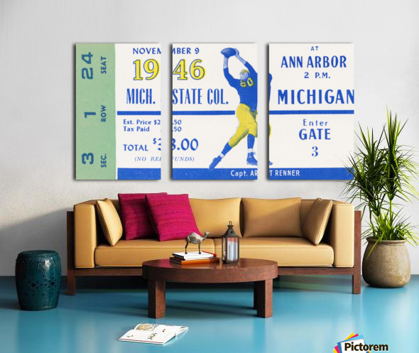 1946 Michigan vs. Michigan State Split Canvas print