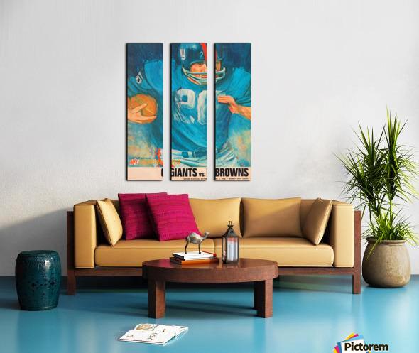 1966 New York Giants Program Cover Art Split Canvas print