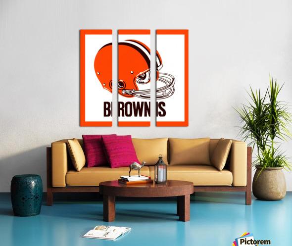 1971 Cleveland Browns Helmet Split Canvas print