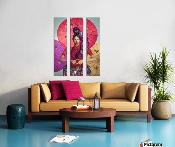 Knit II Split Canvas print