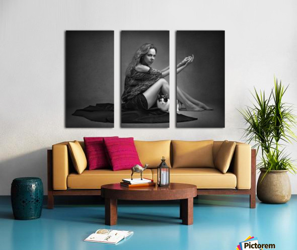 Portrait Series I Split Canvas print