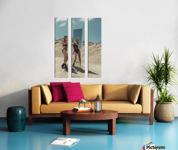 BURNING woMAN II Split Canvas print