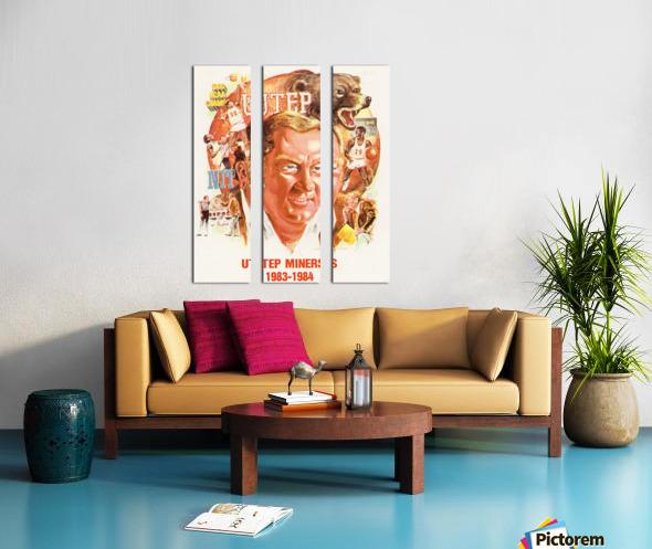 1983 UTEP Basketball Split Canvas print