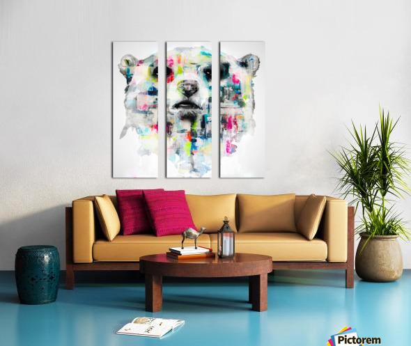 L ours Split Canvas print