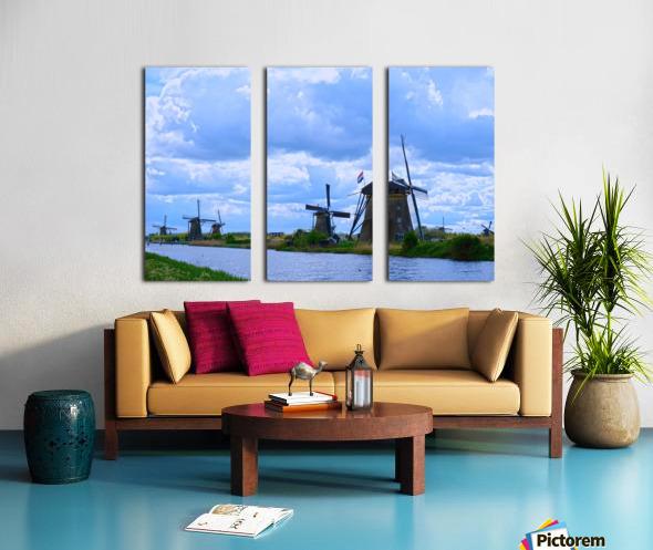 Windmills of the Netherlands 1 of 4 Split Canvas print
