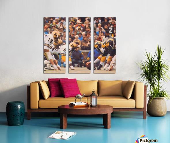 Purdue Football Art Split Canvas print