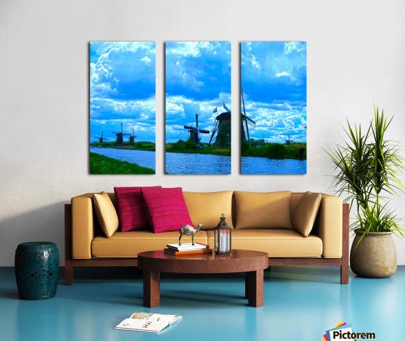 I Dreamed of Windmills Split Canvas print