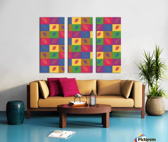Carreaux  Split Canvas print