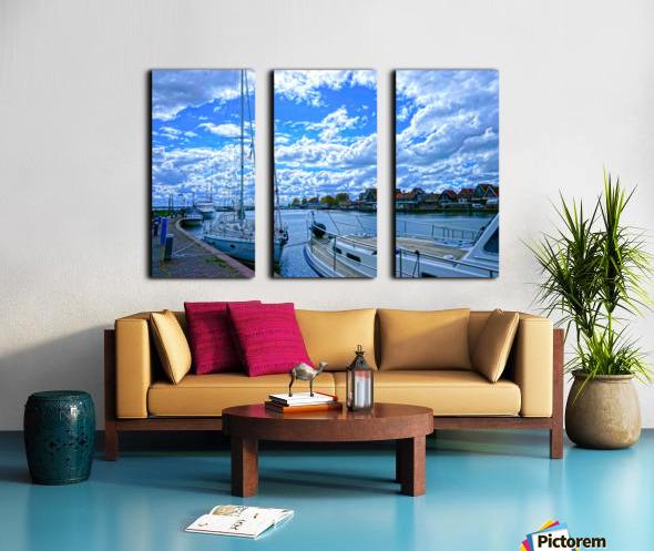 Inland Harbor Netherlands 2 of 5 Split Canvas print