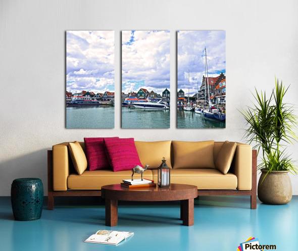 Inland Harbor Netherlands 1 of 5 Split Canvas print