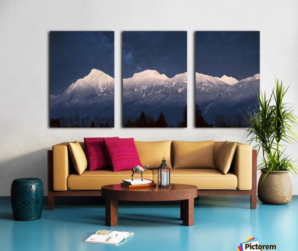 Mt. Cheam Range In Snow Split Canvas print
