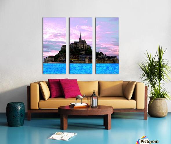 Mont St Michel at Sunset Split Canvas print