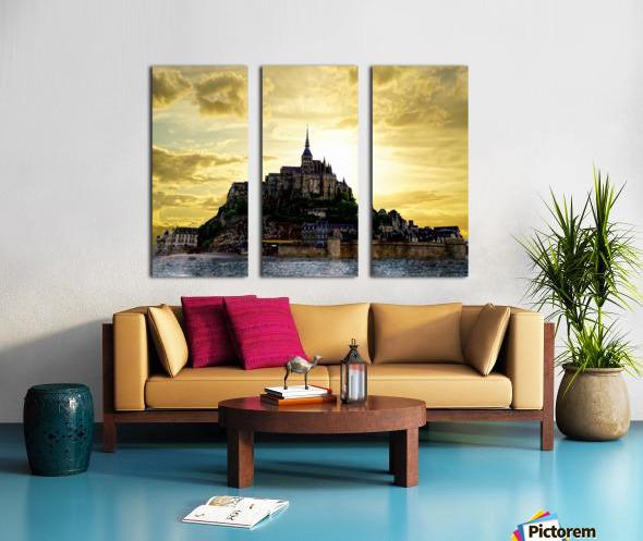 Golden Mont St Michel Split Canvas print
