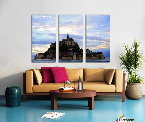 Mont St Michael Rising Tide Split Canvas print