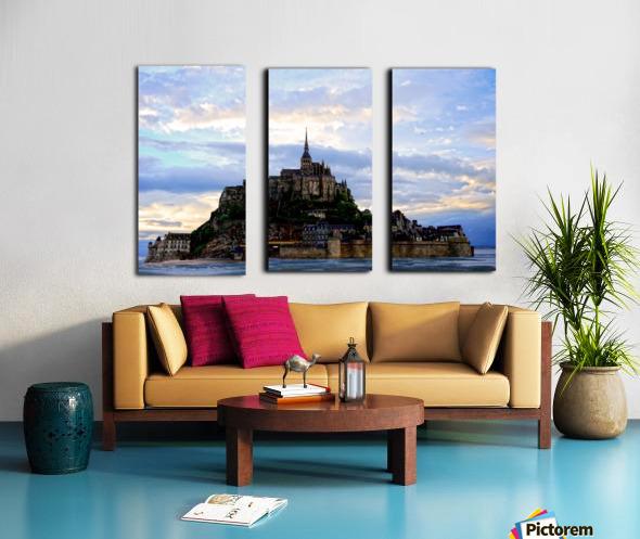 Mont St Michael Rising Tide Panorama Split Canvas print