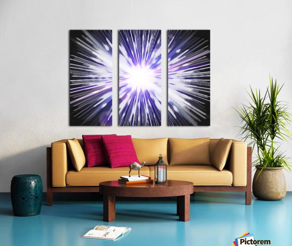 Speed of light Split Canvas print