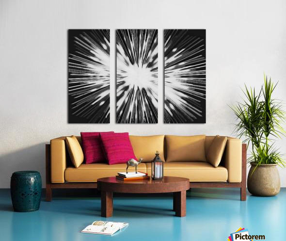 Miracle BNW Split Canvas print