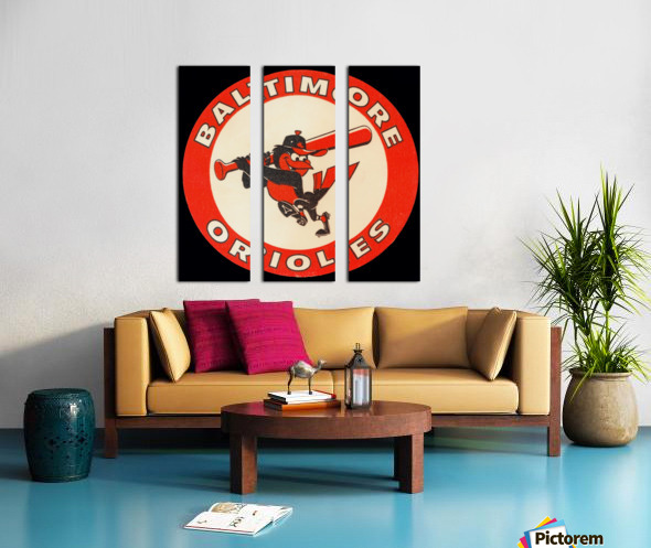 1960s Baltimore Orioles Art Split Canvas print