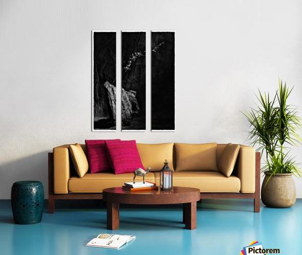 Black and white blues Split Canvas print
