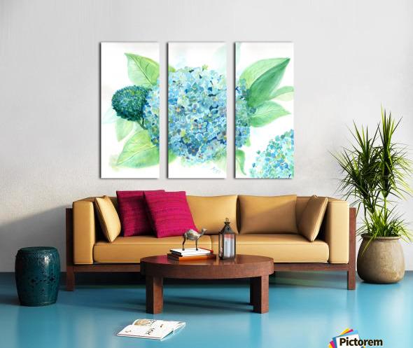 Lovely Blue Hydrangia  Split Canvas print