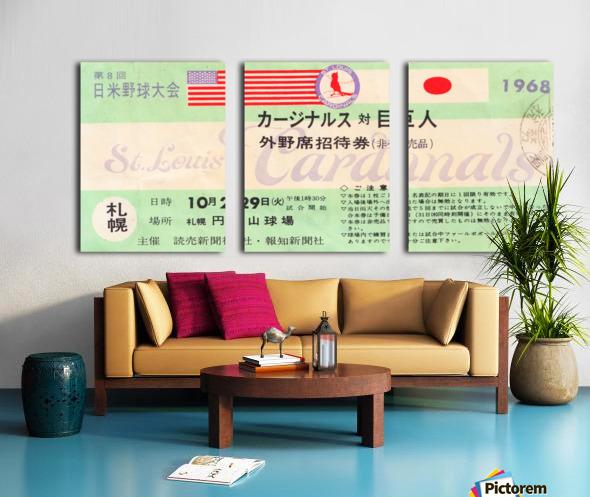 1968 Cardinals Tour of Japan Ticket  Split Canvas print
